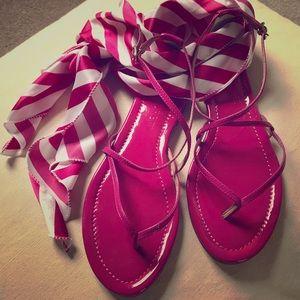 J. Crew Magenta Sandals with Straps